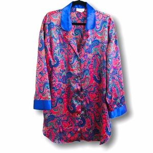Victoria's Secret vintage sleep shirt red paisley